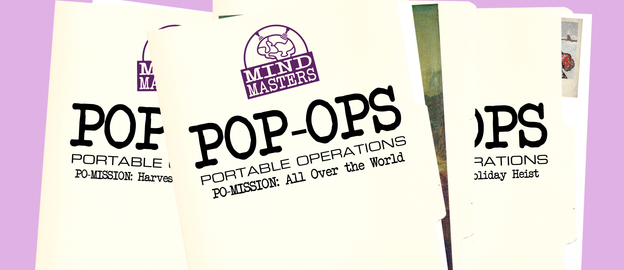 mind masters, escape room, pop ops, portable operations, all over the world, holiday heist, harvets haunt